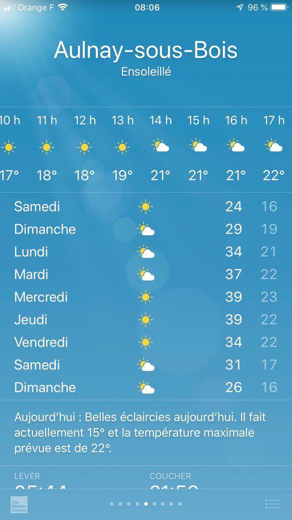 Canicule en vue avec des températures qui pourraient atteindre 39 degrés à Aulnay-sous-Bois