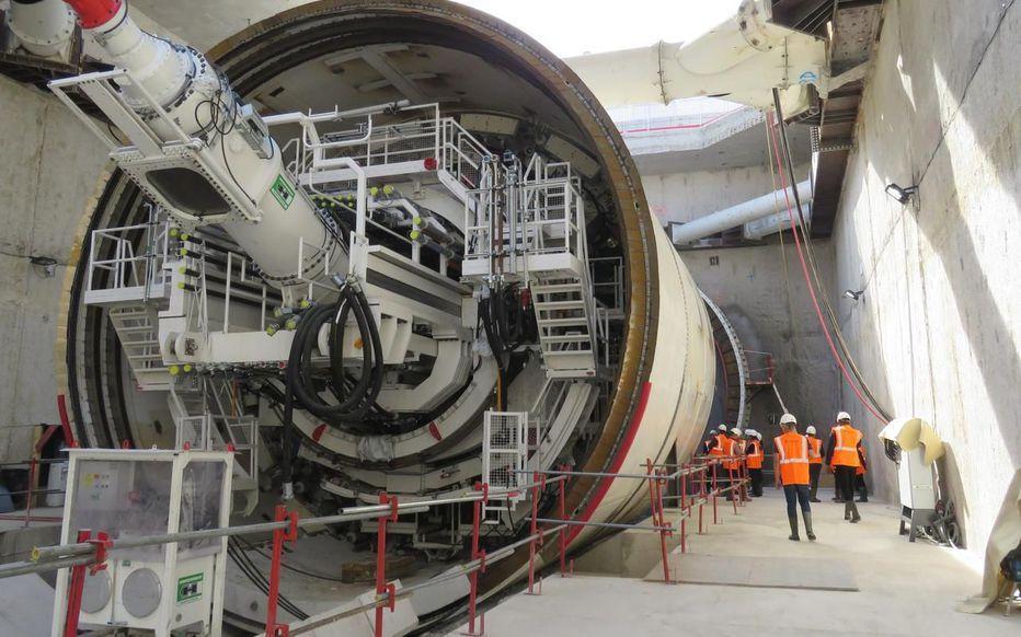 L'impressionnant tunnelier de la ligne 16 du Grand Paris Express va relier Aulnay-sous-Bois à Blanc-Mesnil
