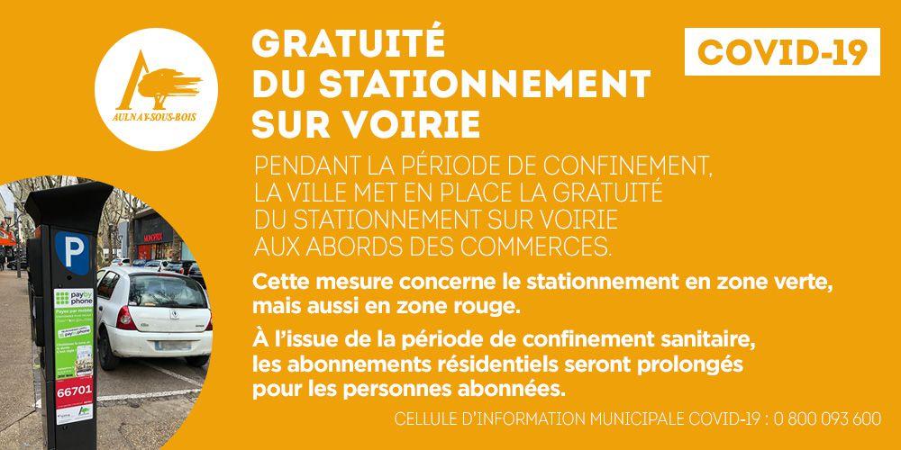 Mise en place de la gratuité du stationnement sur voirie à Aulnay-sous-Bois
