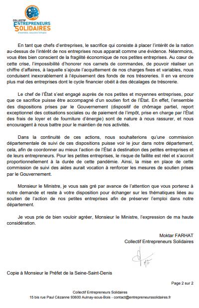 Aulnay-sous-Bois : Moktar FARHAT lance le collectif Entrepreneurs Solidaires !