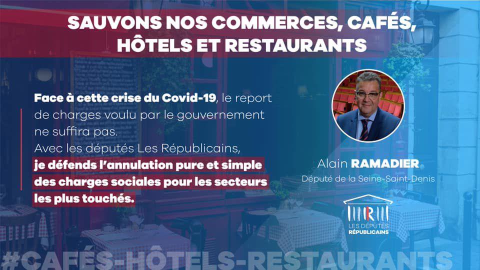 Le député Alain Ramadier appelle à sauver nos commerces, cafés, hôtels et restaurants