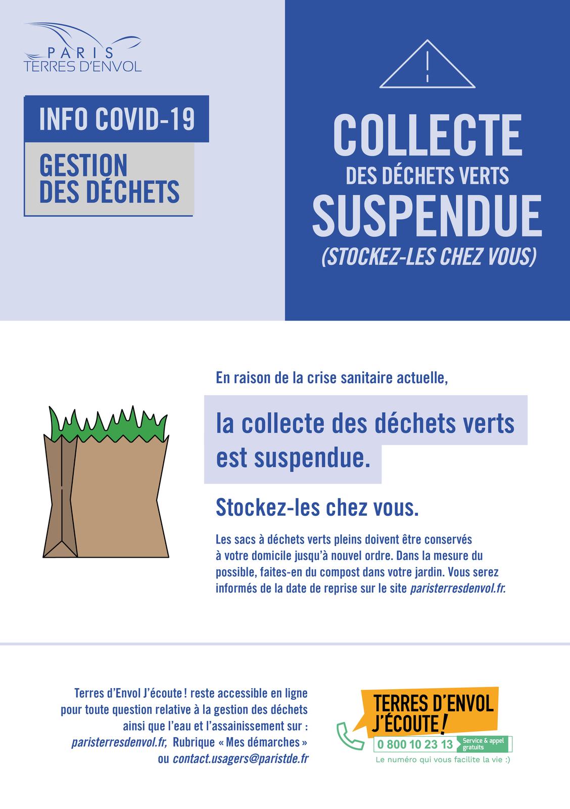 Pendant le confinement il faut stocker les déchets verts chez soi à Aulnay-sous-Bois