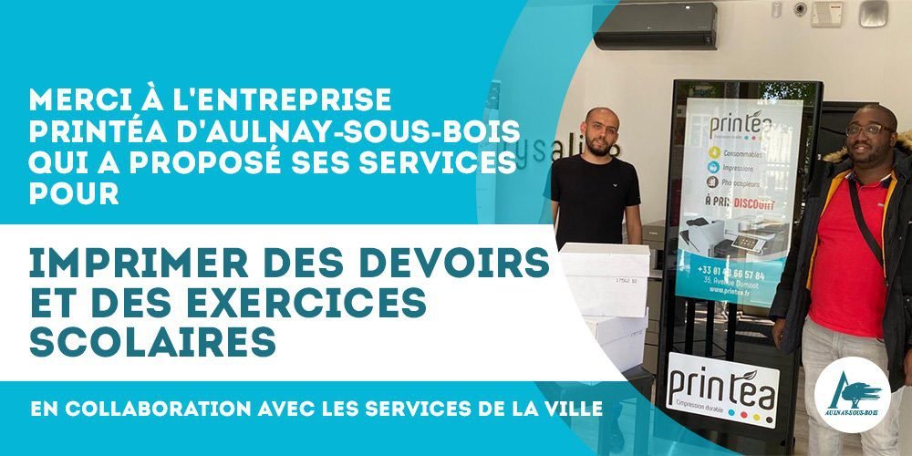 L'entreprise Printéa à Aulnay-sous-Bois imprime des devoirs et exercices scolaires pour les enfants