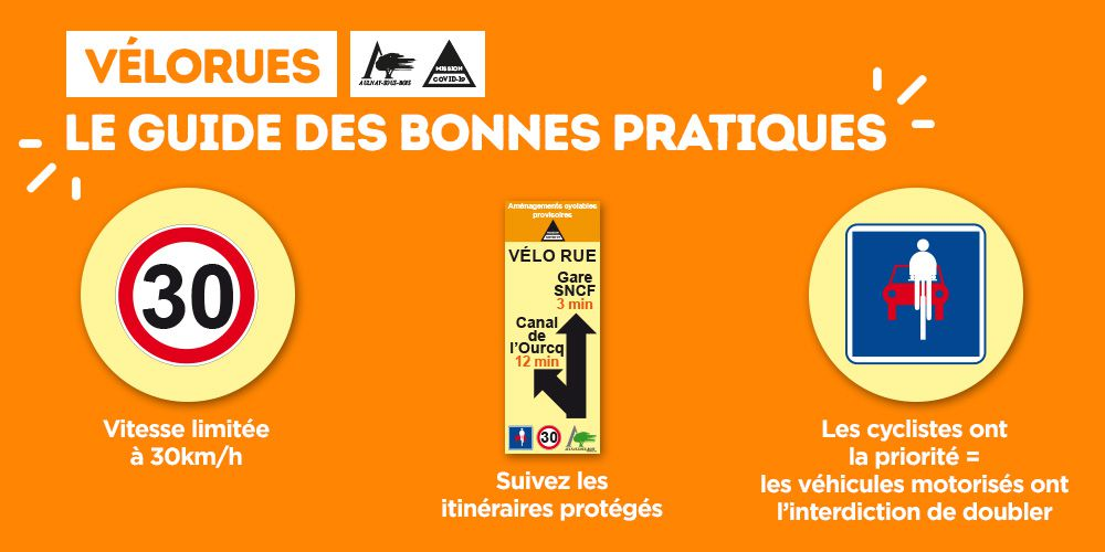 Déconfinement : mise en place d'aménagements cyclables sécurisés pour les vélos à Aulnay-sous-Bois