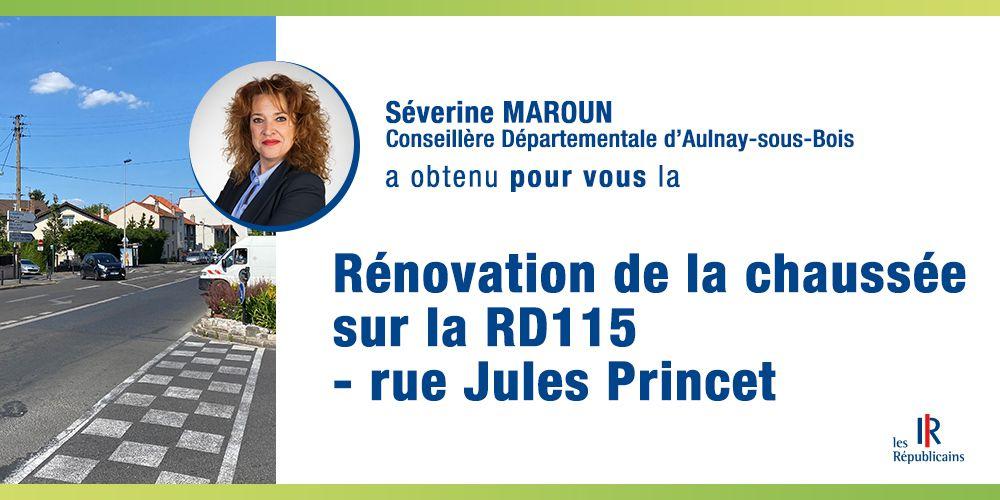 Rénovation de la route départementale RD115 rue Jules Princet à Aulnay-sous-Bois