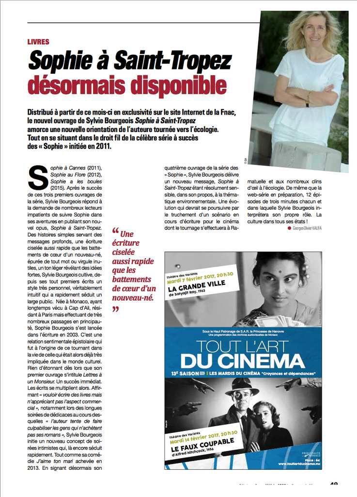 La Gazette de Monaco. Février 2017