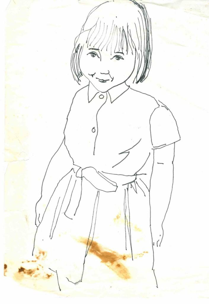 Sylvie Bourgeois à 8 ans - à Besançon par Pierre Bourgeois architecte