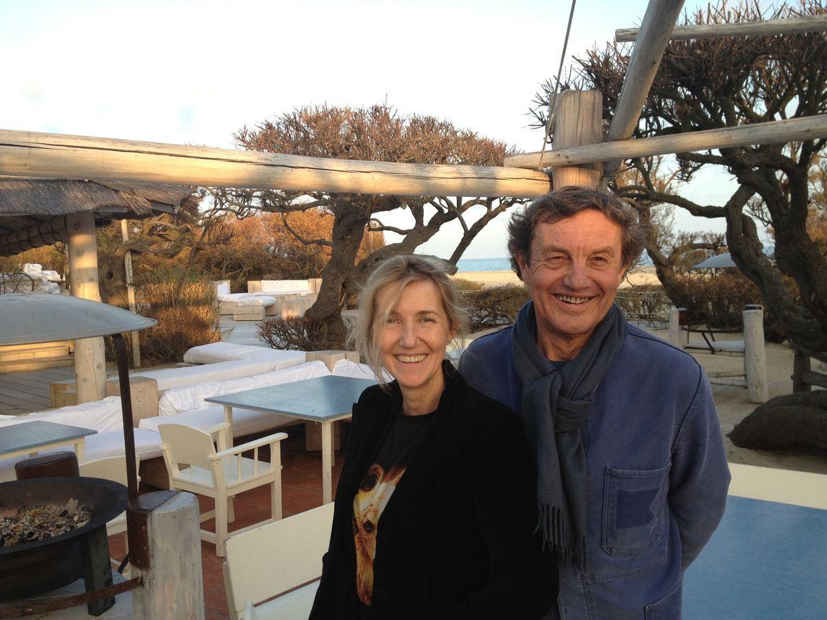 Sylvie Bourgeois Harel et Patrice de Colmont au Club 55 à Noël