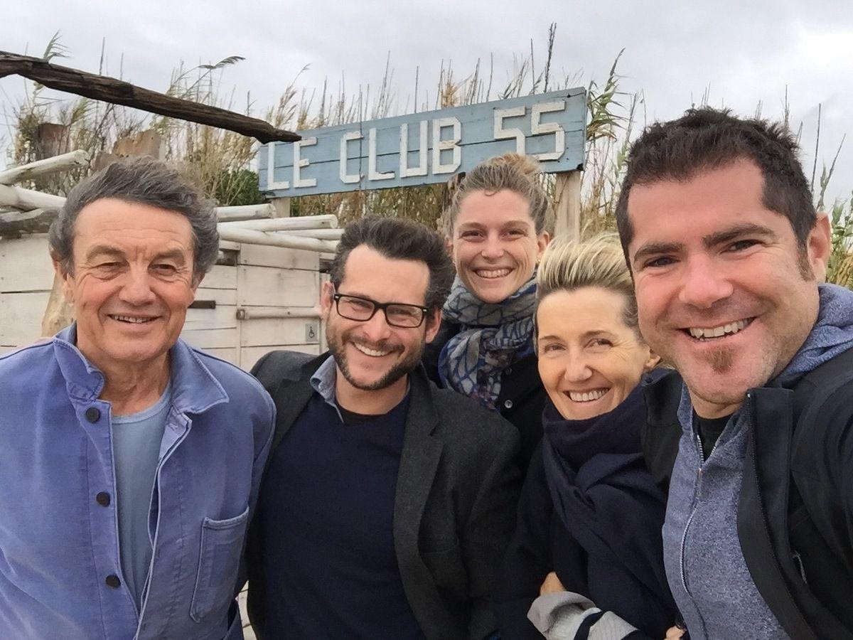 Patrice de Colmont, Paul Kuthe, Anna Brones, John Waller et Sylvie Bourgeois Harel au Club 55