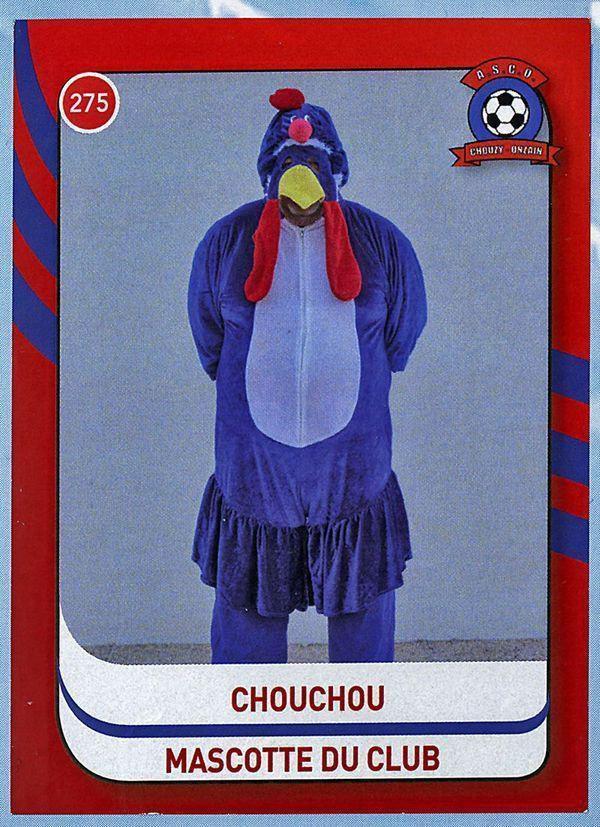 La vignette du coq Chouchou, la mascotte