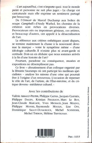L'art aujourd'hui (ouvrage collectif) - verso
