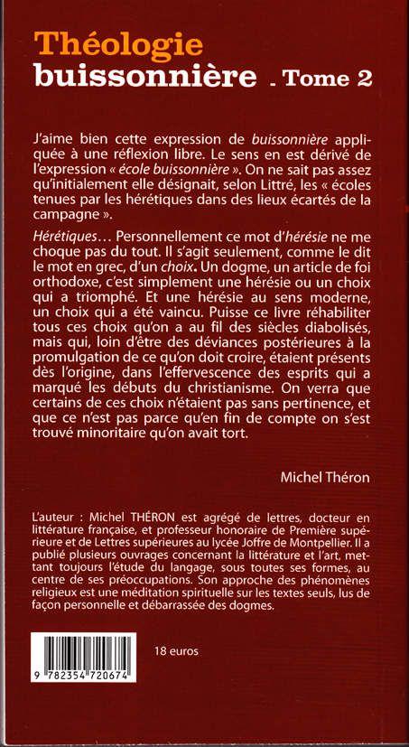 Théologie buissonnière - tome 2 (verso)