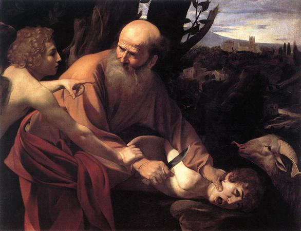 "Le Caravage, ""Le sacrifice d'Isaac"", 1601-1602"