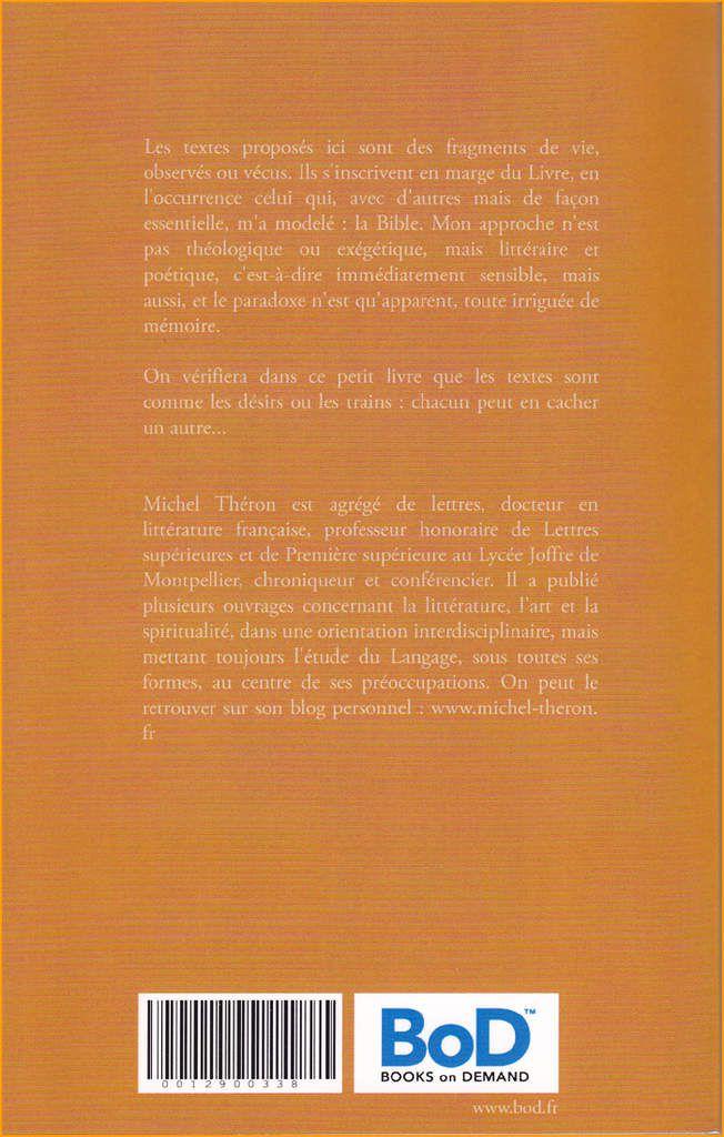 Marges du Livre (couverture verso)