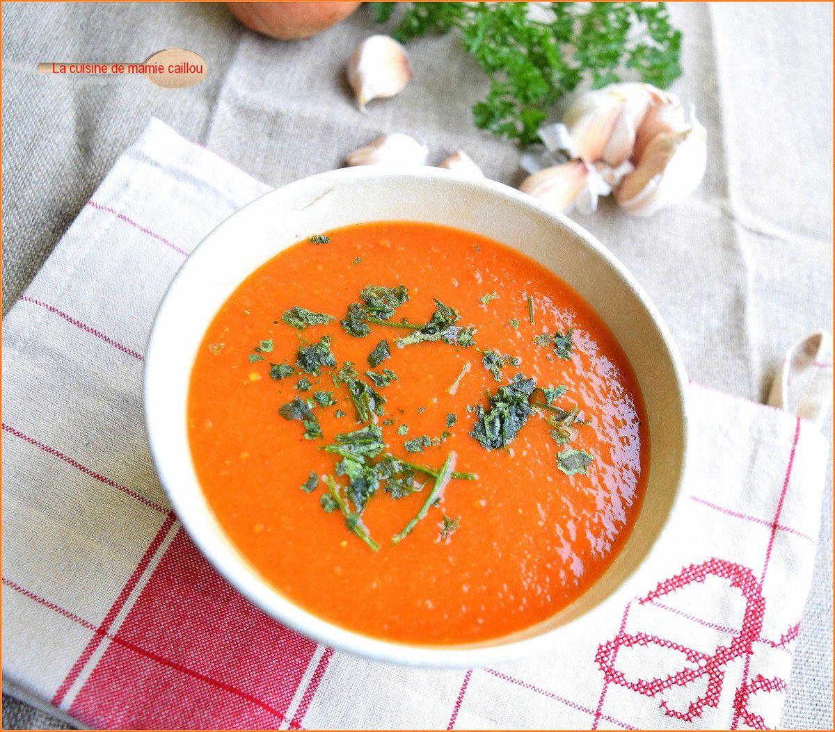 Une soupe à la tomate...comment dire ?...The Tomato soup !