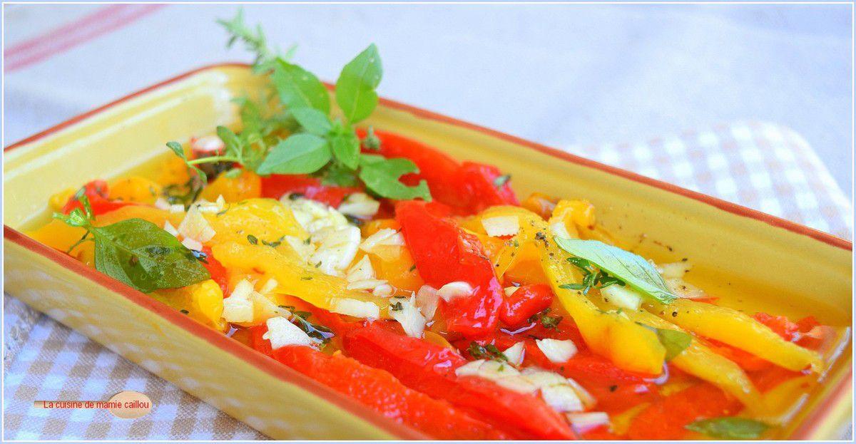 Salade de poivrons grillés...parce que c'est l'été et que c'est bon !