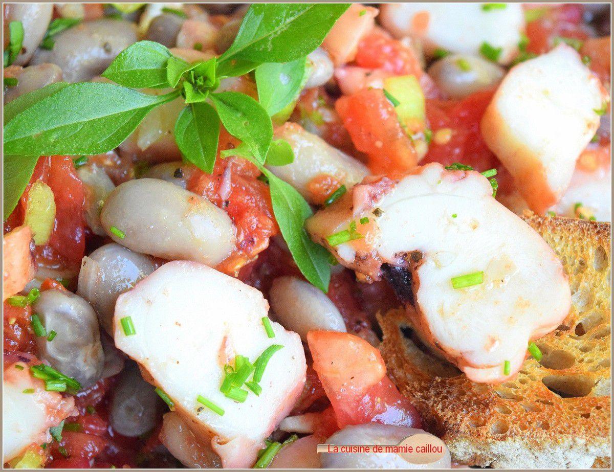 Salade de poulpe et de haricots roses...mais pourquoi pas ?