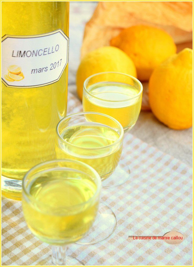 Limoncello et sirop de citron...car il en faut pour tous les âges !