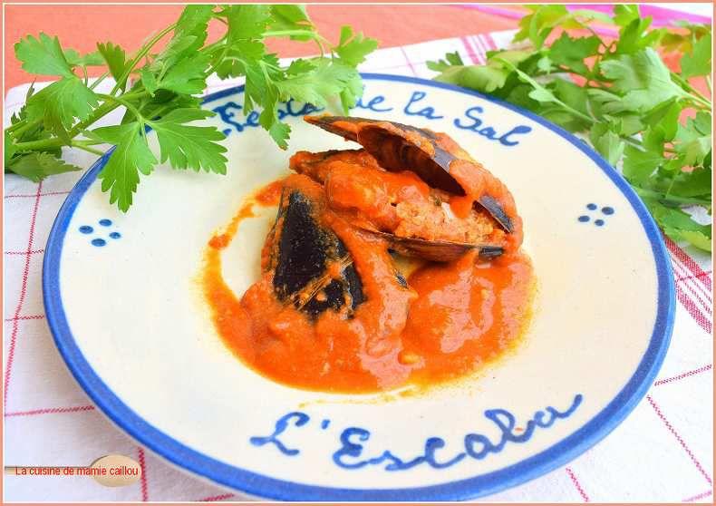 Calamars farcis en sauce ou Calamars amb farciment...car nous sommes là en pays Catalan !
