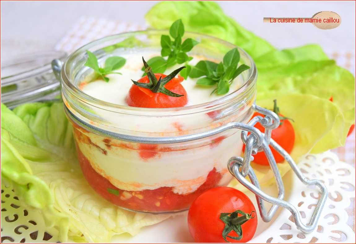 Tomates et Feta  pour une entrée fraîcheur...un peu comme un Tiramisu !