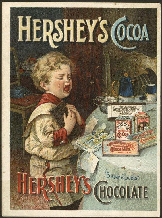 PUBLICITES :  SUR  LE  THEME  DU  CHOCOLAT...
