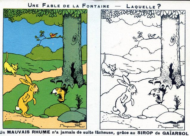 PUBLICITES :  LES  FABLES  DE  JEAN  DE  LA  FONTAINE...