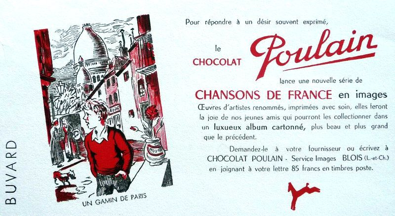 LES PUBLICITES ANCIENNES... ILLUSTREES PAR LES VIEILLES CHANSONS  et  LES PROVERBES. FRANCAISES.
