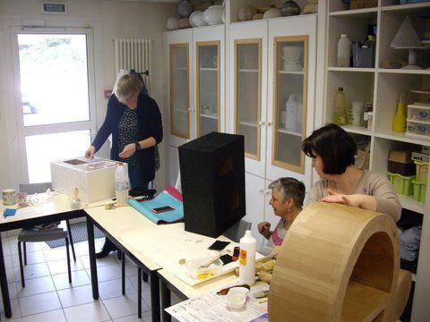 Stage meubles en carton en formation professionnelle