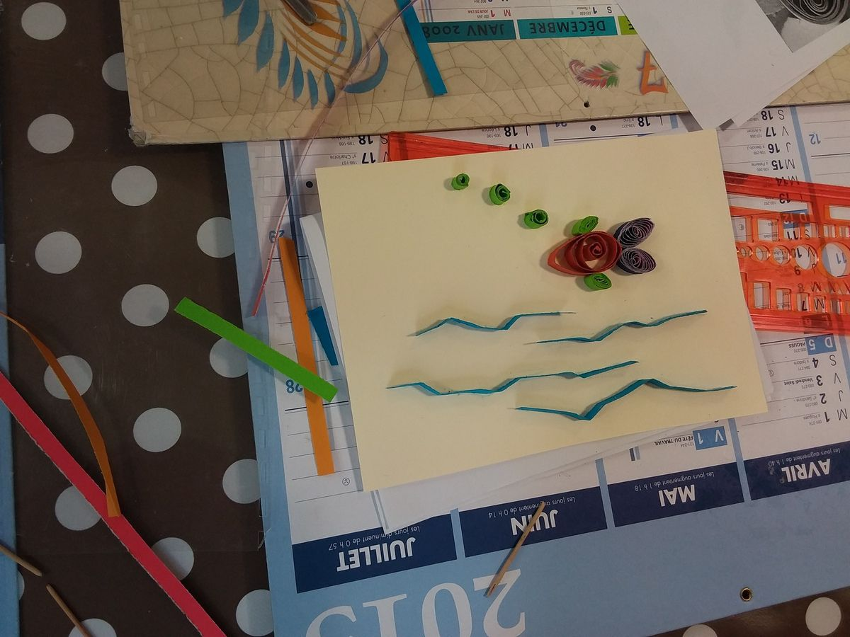 Atelier Quilling (paperolles) avril 2017