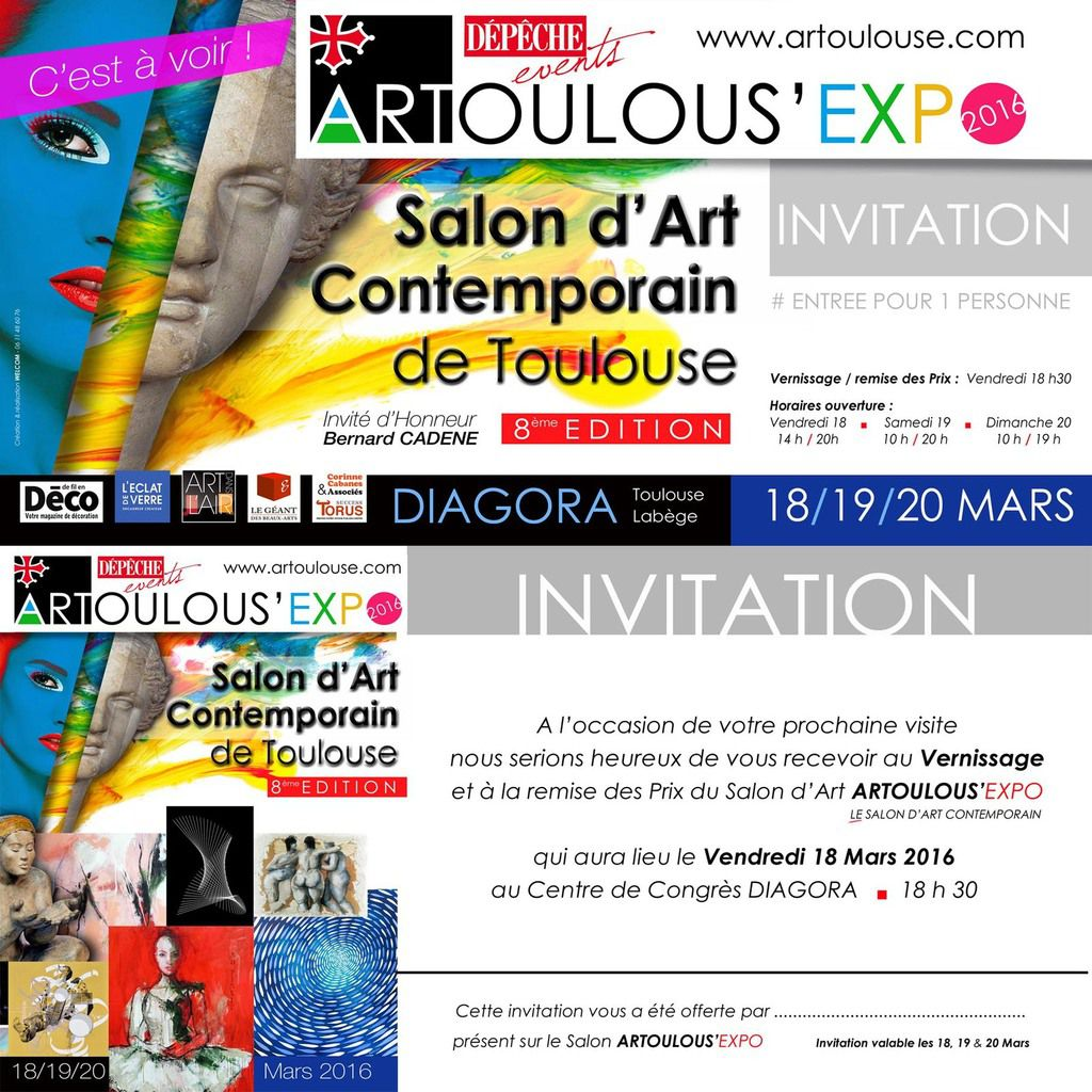 ARTOULOUSE: TELECHARGEZ VOS INVITATIONS
