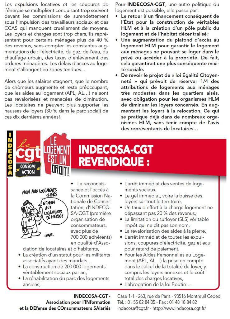 La crise du logement s'aggrave : Indecosa au congrès HLM