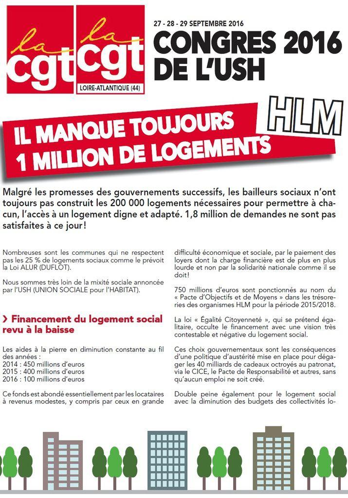 Congrés USH : il manque toujours un million de logement HLM