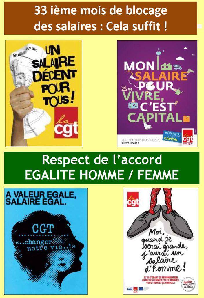 Augmenter les salaires - Stop aux discriminations femme / homme