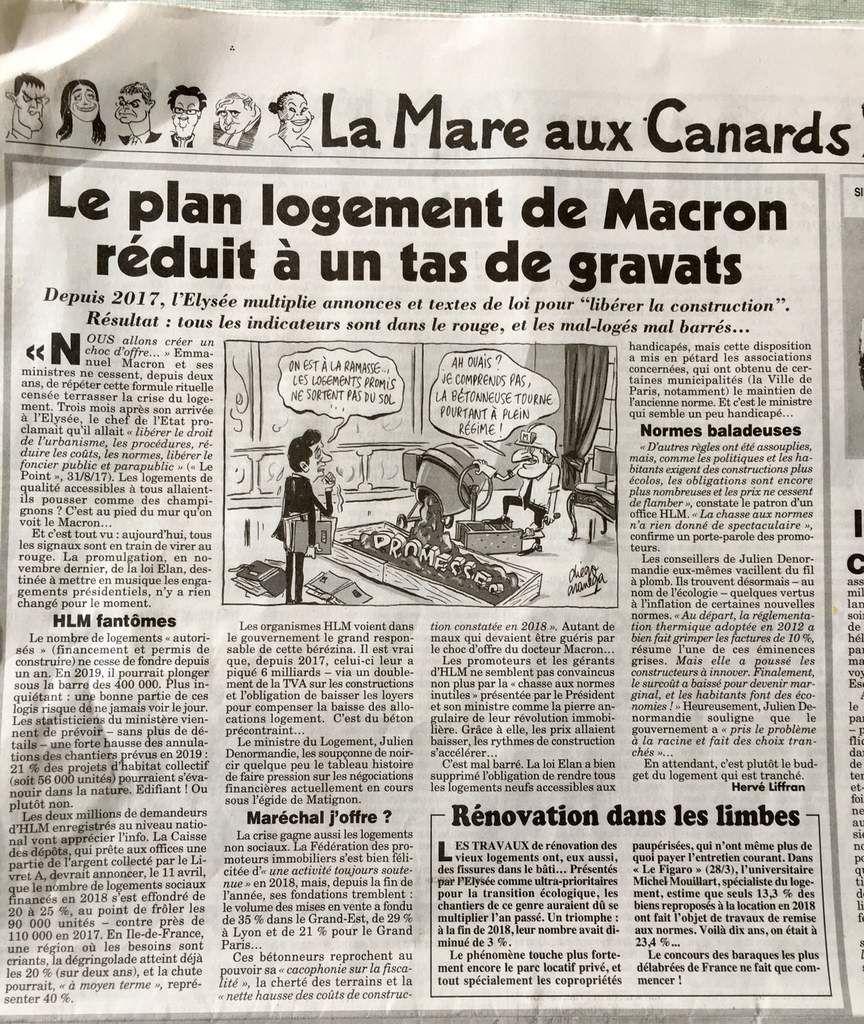 Le plan logement de Macron réduit à un tas de gravas