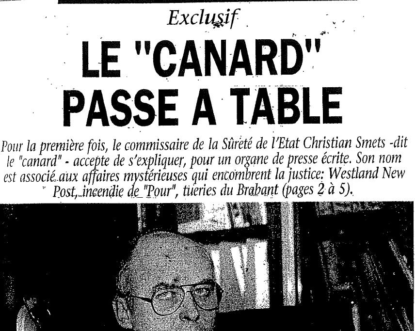 """Le """"canard"""" passe à table"""