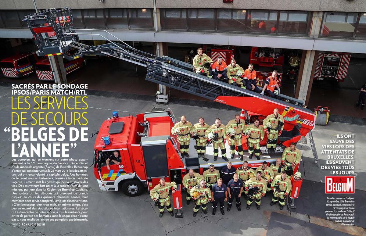 Les Belges plébiscitent leurs services de secours