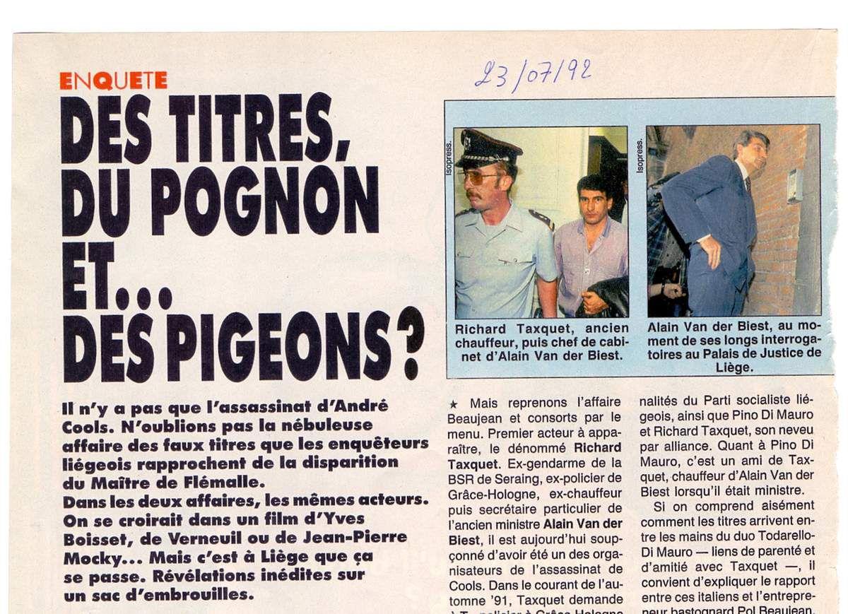 Des titres du pognons et... des pigeons?