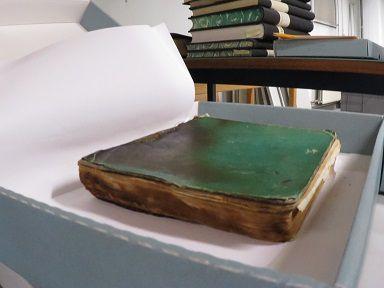 Le journal d'Emile Storms est précieusement conservé au Musée de l'Afrique Centrale (MRAC) à Tervuren. (Photo : Michel Bouffioux)