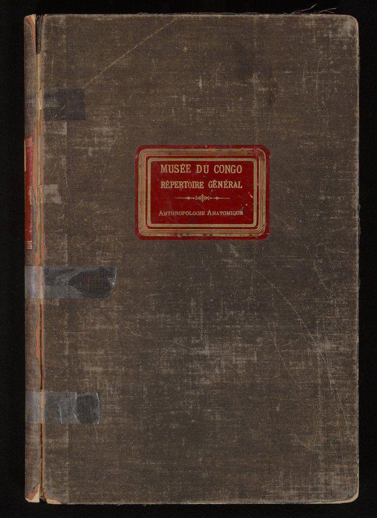 La page de couverture du registre d'antropologie anatomique du Musée du Congo © MRAC