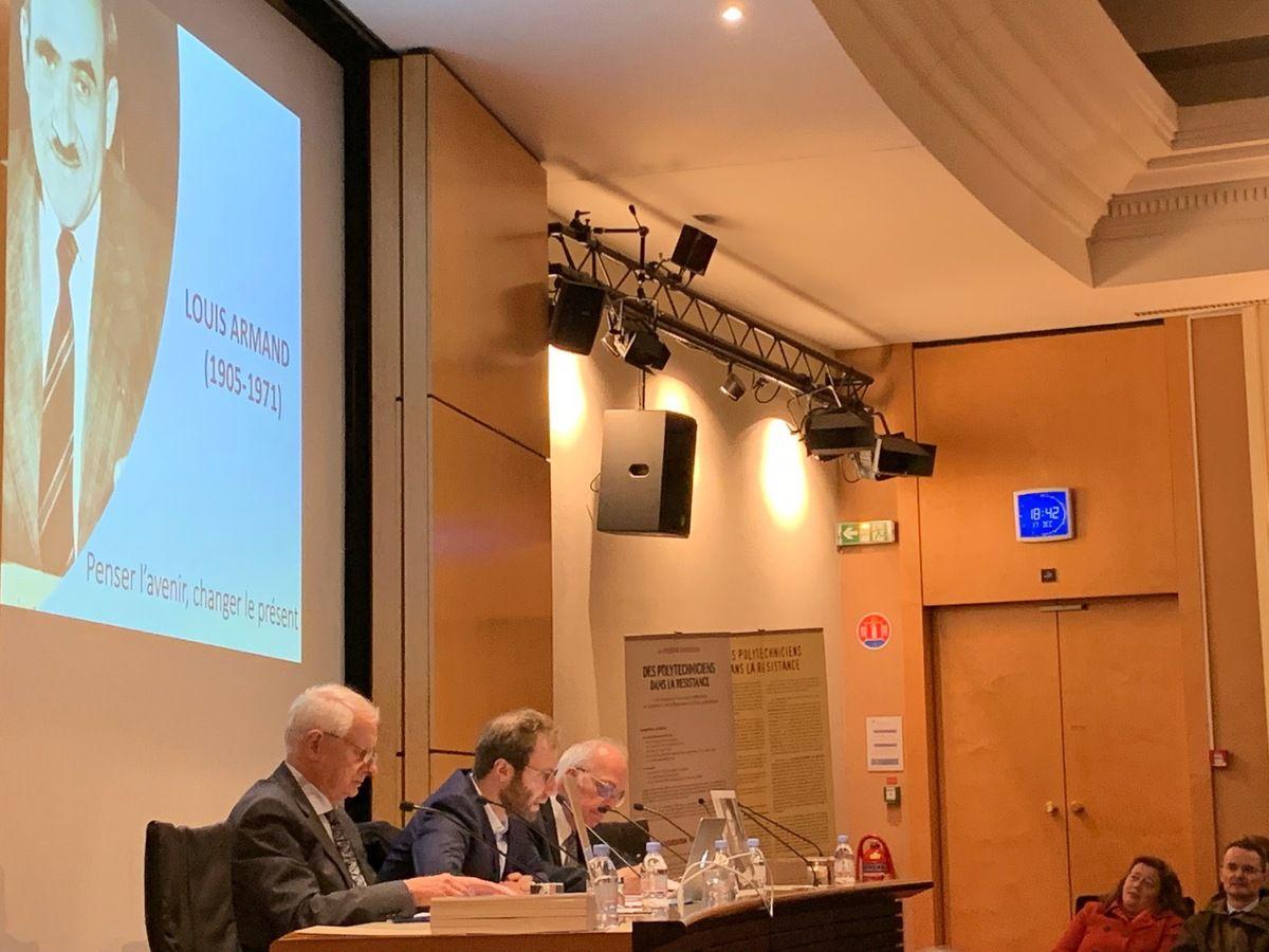 Conférence d'Antoine Armand sur Louis Armand, de l'Académie française, Compagnon de la Libération