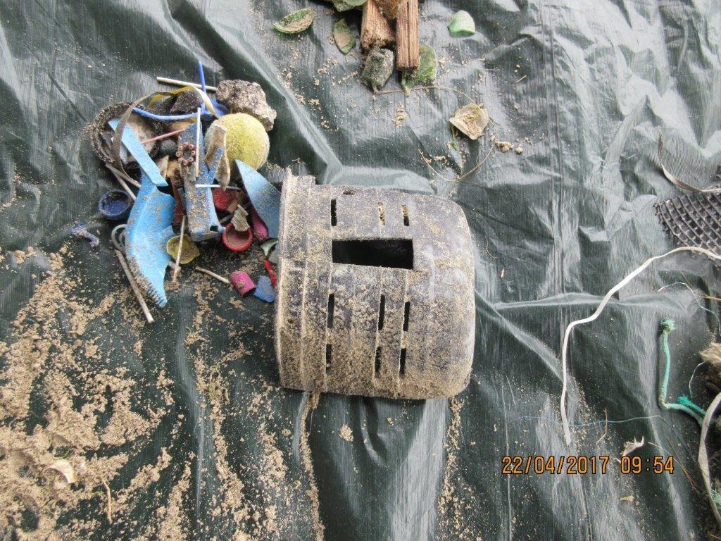 Recolte et observation des petits déchets
