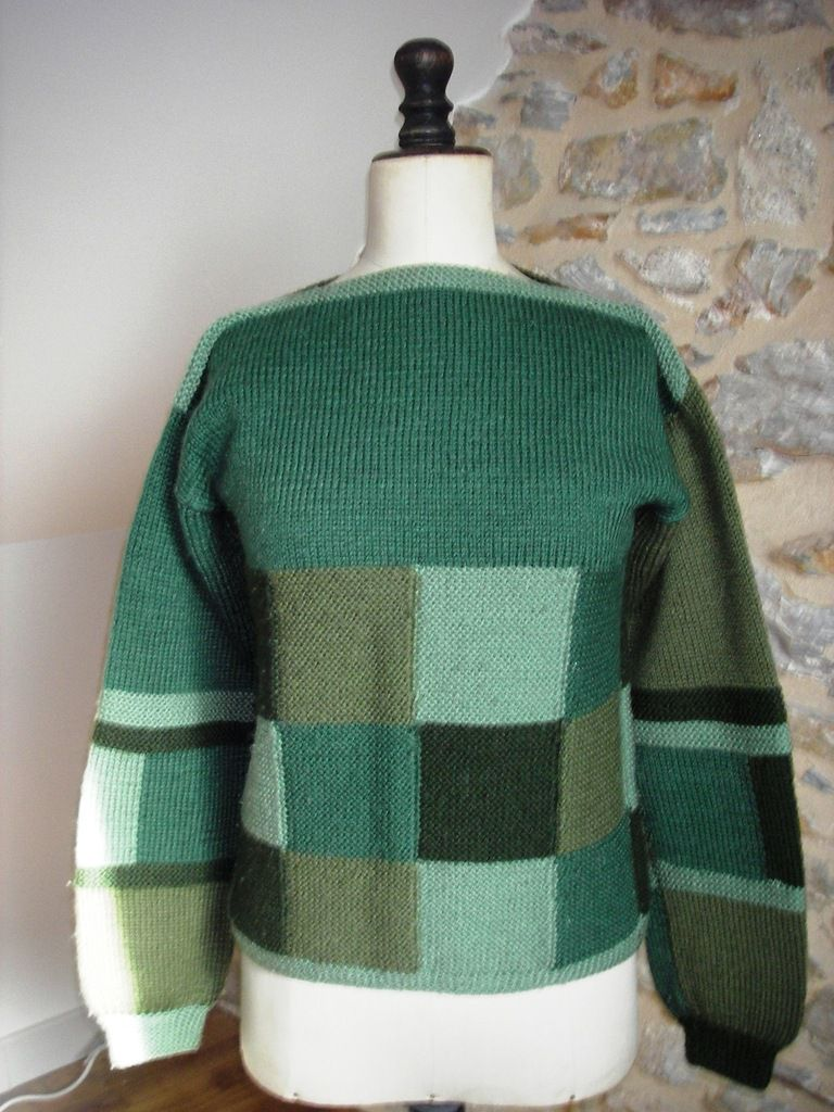 Le pull patchwork