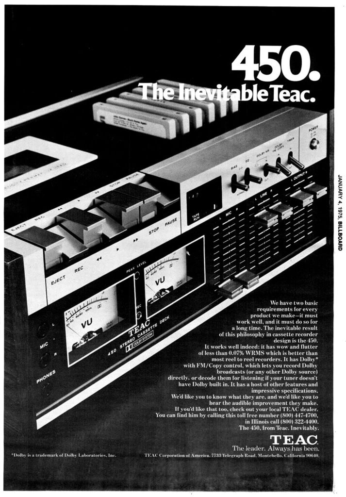 Teac ad 1975