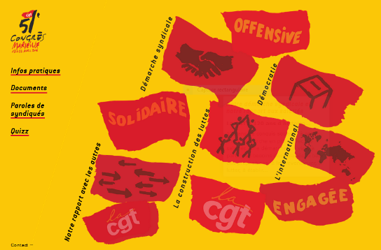 51ème Congrès de la CGT : le site est en ligne