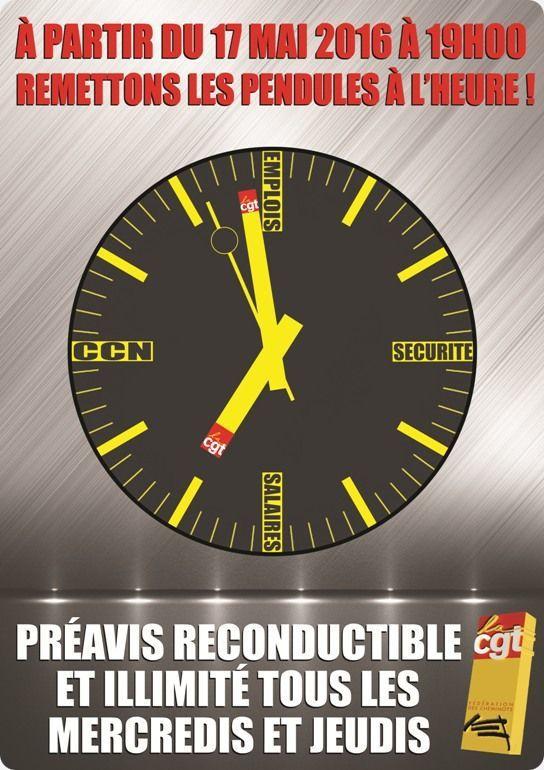 Grève reconductible à la SNCF à l'appel de la CGT