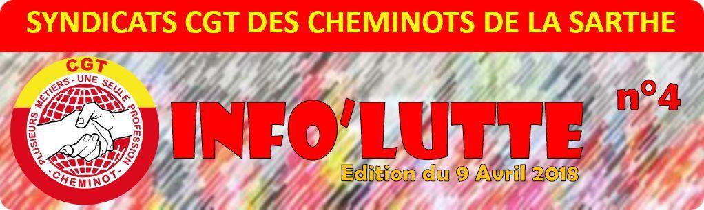 Info Lutte - CGT Cheminots Sarthe - N°4 du 9 Avril 2018