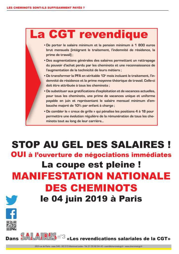 Tract salaire n°2 - Avril 2019
