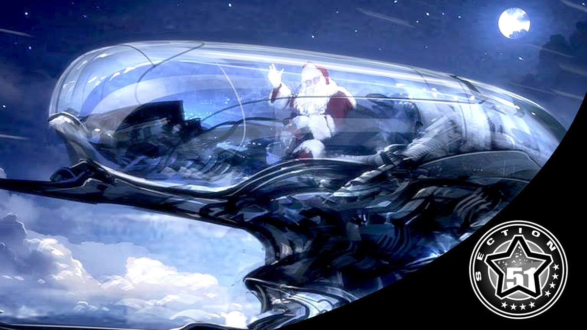 Could Santa's workshop be located in space ? How does he travel through time and space ?