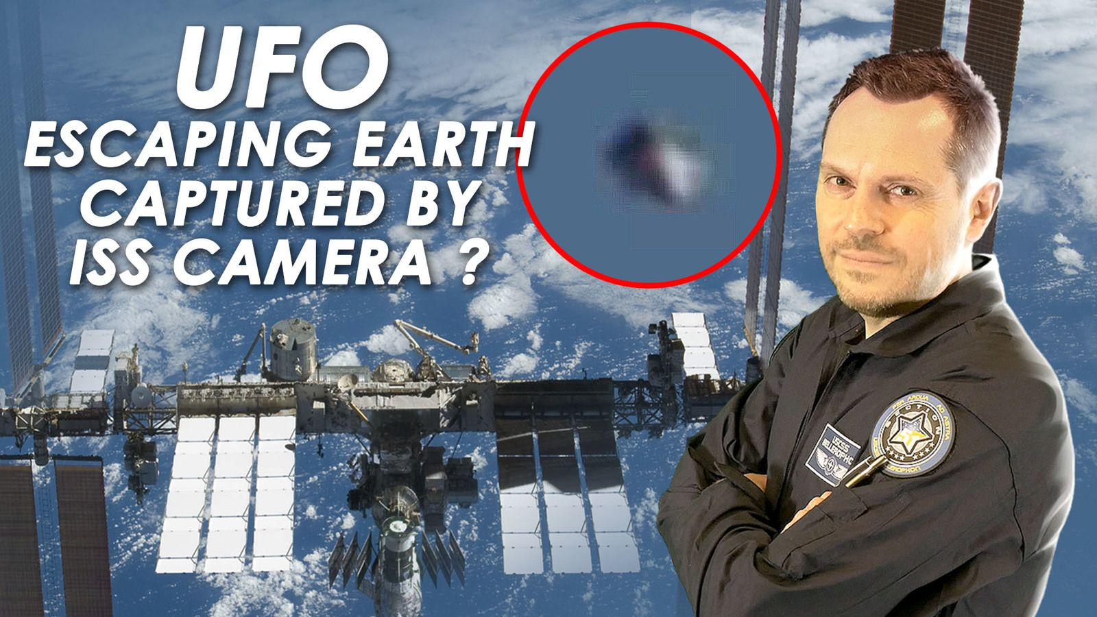 👽 Did ISS Camera Really Capture Cone Shaped UFO Escaping Earth ?