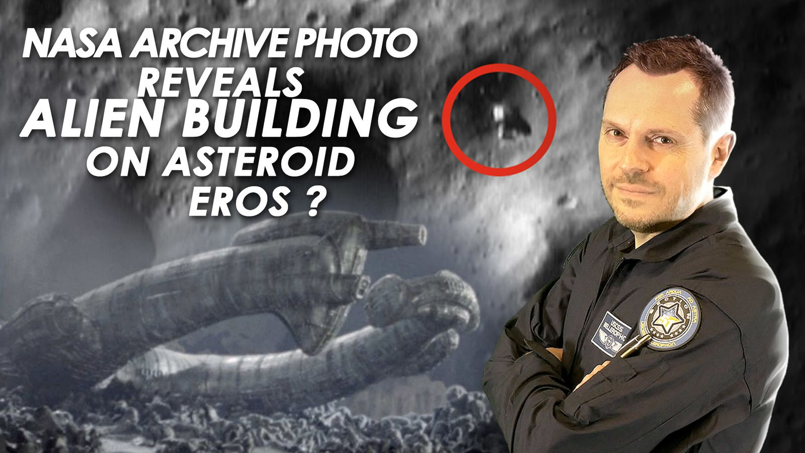 👽 NASA Archive Photo May Reveal Alien Building on Asteroid Eros